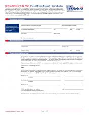 Preview Image for IAdvisor 529 Plan Payroll Direct Deposit - Contributor.pdf