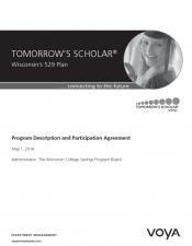 Preview Image for Tomorrow's Scholar 529 Program Description and Participation Agreement.pdf