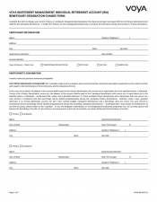 Preview Image for Voya IRA - Beneficiary Designation Change Form.pdf