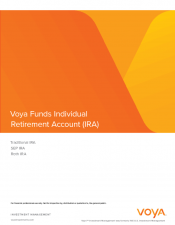 Preview Image for Voya IRA - Individual Retirement Account Application.pdf