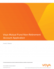 Preview Image for Voya Mutual Fund Non-Retirement Account Application - Classes A & C.pdf