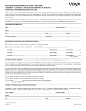 Preview Image for Voya Roth IRA - Conversion Request Form (External).pdf