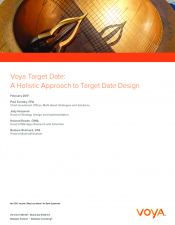 Preview Image for Voya Target Date A Holistic Approach to Target Date Design.pdf