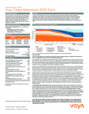 Preview Image for Voya Target Retirement 2025 Fund Fact Sheet - Class R6.pdf