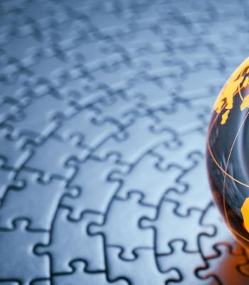 Globe on Puzzle