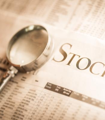 Stock Market in Newspaper