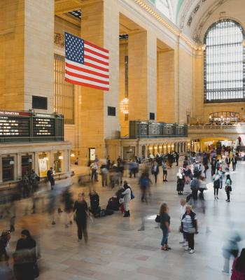 American Flag in Grand Central
